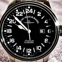 Zeno-Watch Basel 47,5mm Automatisch tweedehands X-Large Pilot Zwart