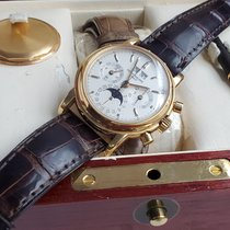Patek Philippe Red gold Manual winding No numerals 36mm pre-owned Perpetual Calendar Chronograph