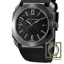 Bulgari Octo Steel 41mm Black Arabic numerals