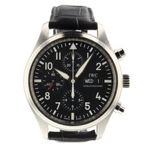 IWC Pilot Chronograph pre-owned 43mm Black Chronograph Date Leather