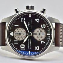 IWC Pilot Spitfire Chronograph Steel 43mm Brown Arabic numerals
