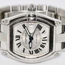 Cartier Roadster Stål 37mm Grå Romersk