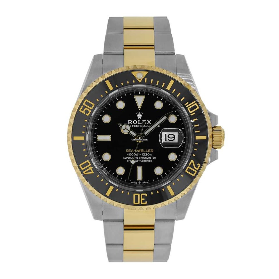 fcd26855ce3 Rolex Sea-Dweller 43mm Two-Tone Stainless Steel Watch 126603 for $19,999  for sale from a Trusted Seller on Chrono24