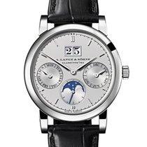 A. Lange & Söhne Platinum Automatic Silver No numerals 38.5mm new Saxonia