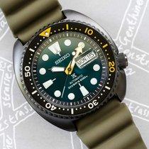 Seiko Prospex Steel 47mm Green No numerals