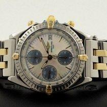 Breitling Chronomat Pilotband Gold Steel Pearl Dial 39 mm