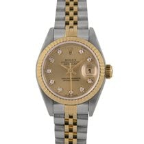 Rolex Datejust Ladies Steel & Gold, Diamond Dial, 69173,...