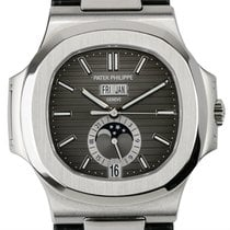Patek Philippe 5726A-001 Stainless Steel Watch with Leather Strap