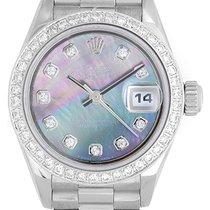 Rolex President 18k Diamond Mother of Pearl Watch 69179