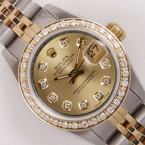 Rolex Lady Datejust Two Tone 18k Watch 26mm-Champagne Diamond...