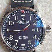 Alpina Startimer Pilot Automatic Acero 44mm Azul Arábigos