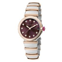 Bulgari Lucea Gold/Steel 33mm Purple