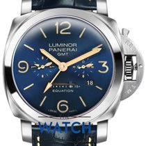 Panerai Luminor 1950 8 Days GMT Titanium 47mm Blue Arabic numerals United Kingdom, Hemel Hempstead, Hertfordshire