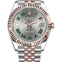 Rolex Datejust II Two-Tone Rose & White Wimbledon Dial