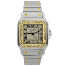 Cartier Santos Galbée Gold/Steel 28mm Silver Roman numerals United States of America, California, Fullerton