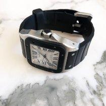 Cartier Acero Automático Plata Romanos 38mm usados Santos 100
