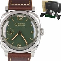 Panerai Radiomir 1940 3 Days Steel 47mm Green Arabic numerals United States of America, New York, Smithtown
