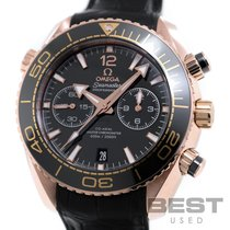 Omega Automatic Black 46mm pre-owned Seamaster Planet Ocean Chronograph