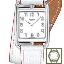 Hermès Cape Cod Stahl 29mm Weiß Arabisch
