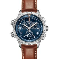 Hamilton Khaki X-Wind Steel 46mm Blue Arabic numerals