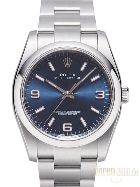 Rolex Oyster Perpetual 36mm Blau 116000 For 5 141 For Sale From A