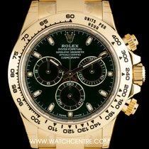 Rolex 18k Y/G Unworn Green Anniversary Dial Daytona B&P...
