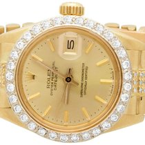 Rolex pre-owned Automatic 26mm Gold Sapphire Glass