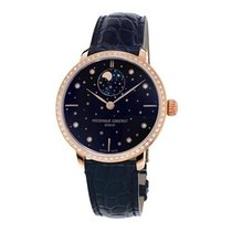 Frederique Constant Manufacture Slimline Moonphase neu 39mm Gold/Stahl