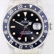 Rolex GMT Master black 16700 Klassiker Jubileeband N-Serie...