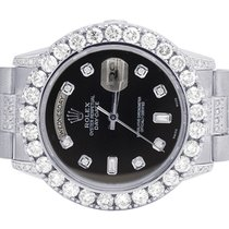 Rolex Mens 18K White Gold Rolex President 18238 Day-Date 36MM...