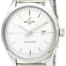 Breitling Transocean Steel Automatic Mens Watch A10360 Bf315666