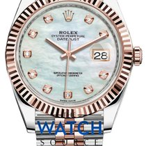 Rolex Datejust Goud/Staal 41mm Parelmoer