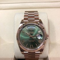 Rolex 228235 Day-Date 40 Rose Gold with Green Dial