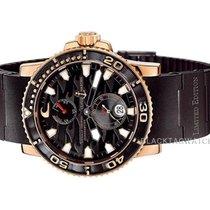 Ulysse Nardin Rose gold Automatic Black No numerals 42.7mm new Maxi Marine Diver
