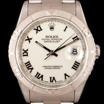 Rolex Datejust Turn-O-Graph Сталь 36mm Белый Римские