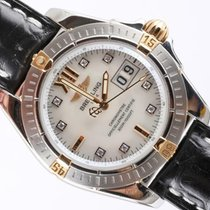 Breitling Cockpit pre-owned 41mm White Date Crocodile skin