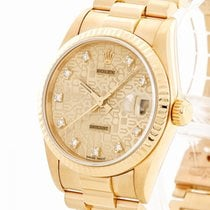 Rolex Yellow gold Automatic Gold 31mm pre-owned Datejust