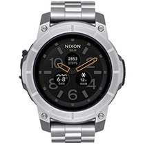 Nixon 48mm Nixon Mission SS Silver Smartwatch A1216-130 new
