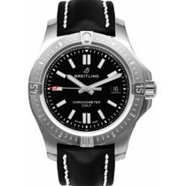 Breitling Chronomat Colt Steel 44mm Black No numerals