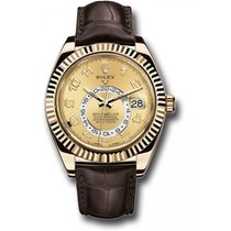 Rolex Sky-Dweller Or jaune 41mm Champagne Arabes