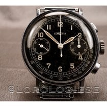 Lemania Steel 37mm Chronograph pre-owned