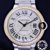 Cartier Ballon Bleu 36mm Acero y oro 36mm Blanco Romanos