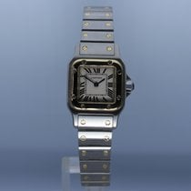 Cartier 1567 Gold/Stahl 2000 Santos Galbée 24mm gebraucht