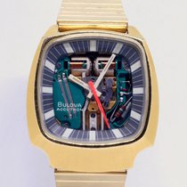 Bulova Gold/Steel 38mm Quartz BULOVA Spaceview Accutron Aniversary 1975 Asymmetric Gold pl pre-owned United States of America, Florida, Miami