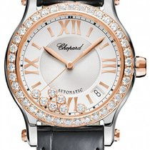 Chopard Happy Sport Silver Dial Diamond Automatic Ladies...