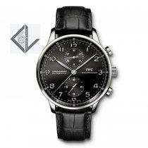IWC Portoghieser Chronograph Black Dial - Iw371447