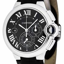 Cartier W6920052 Ballon Bleu XL Chronograph Auto Men's Leather...