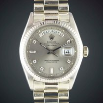 Rolex 18k White Gold Oyster Perpetual Day Date