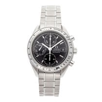 Omega Steel Automatic Black No numerals 39mm pre-owned Speedmaster Date