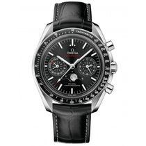 Omega Speedmaster Professional Moonwatch Moonphase Steel 44.2mm Black No numerals